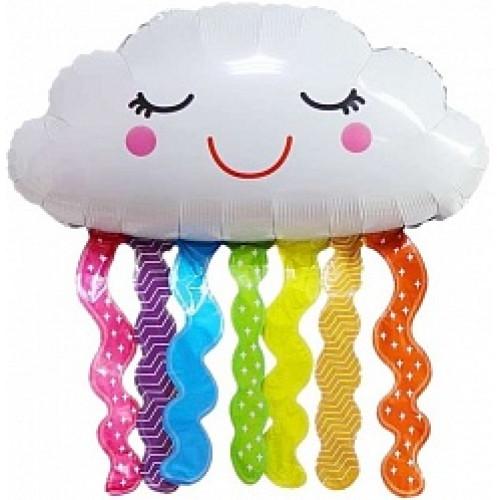 Шар (32''/81 см) Фигура, Счастливое облако, Яркая радуга, 1 шт.