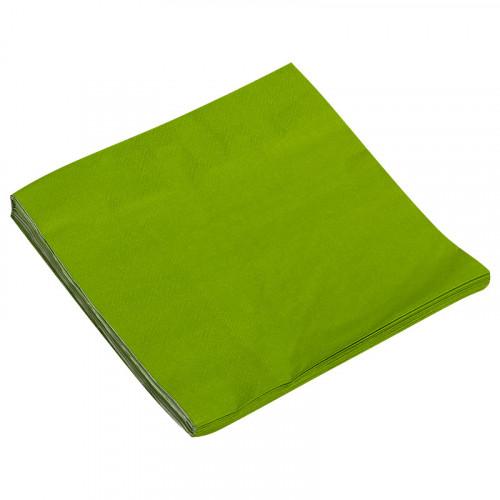 Салфетки однотонные, зеленый, 32х32см, 20шт