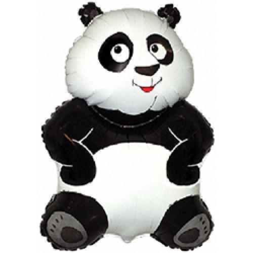 Шар (33''/84 см) Фигура, Большая панда, Белый