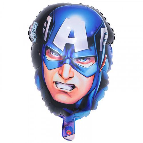 """Шар (45''/30 см) Фигура, Голова """"Капитан Америка"""", 1 шт."""