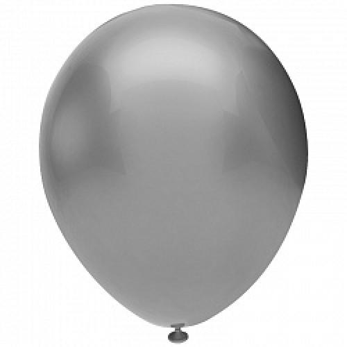 Шар (12''/30 см) Серебро (923), металлик, 50 шт.