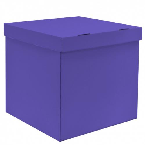 Коробка для воздушных шаров, Синяя, 70*70*70 см, 1 шт.