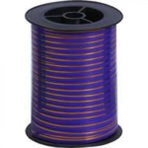 Лента с золотой полосой (0,5 см х 250 м) Фиолетовый