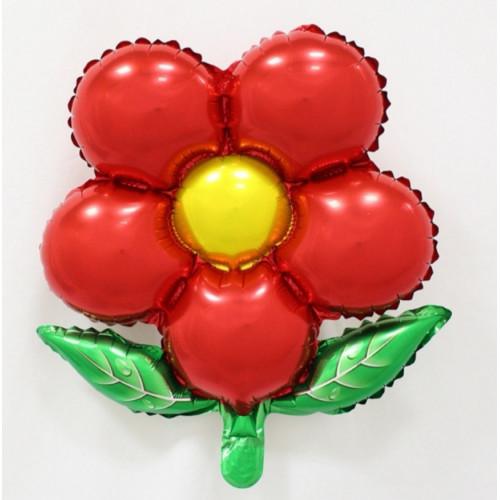 Шар (50/46 см) Фигура, Цветок красный.