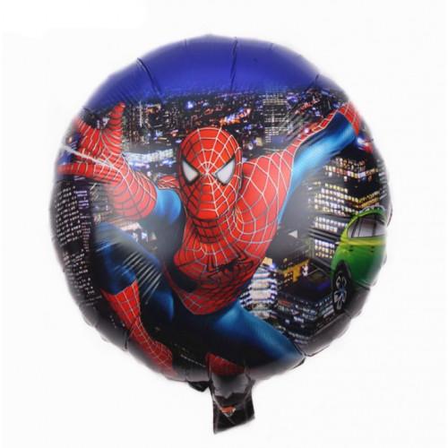 Шар (18''/46 см) Круг, Человек паук в прыжке, город
