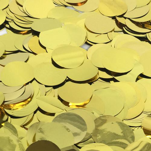 Конфетти фольга, Кружки, Золото, 50гр