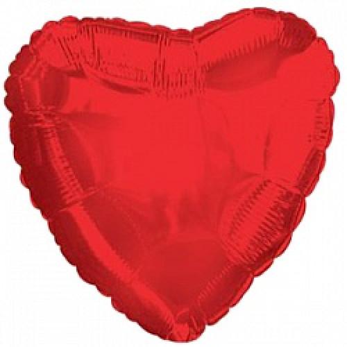 """Шар (32""""/81 см) Сердце, Красный"""