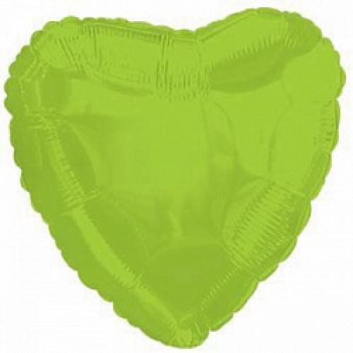 Шар (18''/46 см) Сердце, Лайм зеленый
