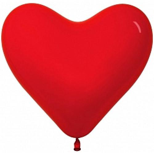 """Сердце 10"""" Кристалл Красное /Ит"""