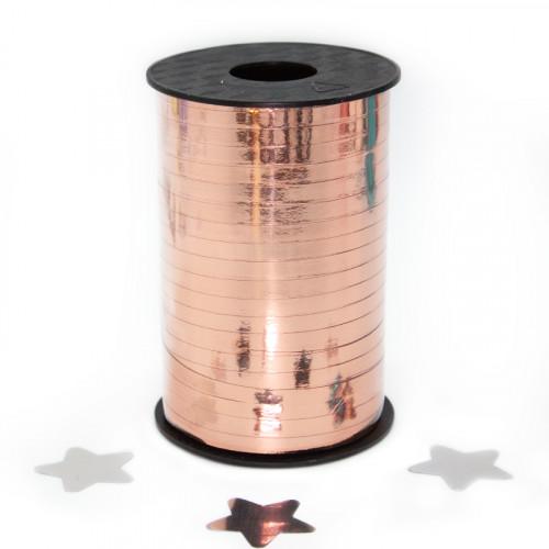 Лента (0,05*250 м) Розовое Золото, Металлик, 1 шт.