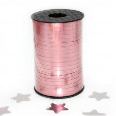 Лента (0,05*250 м) Матовый розовый, Металлик, 1 шт.