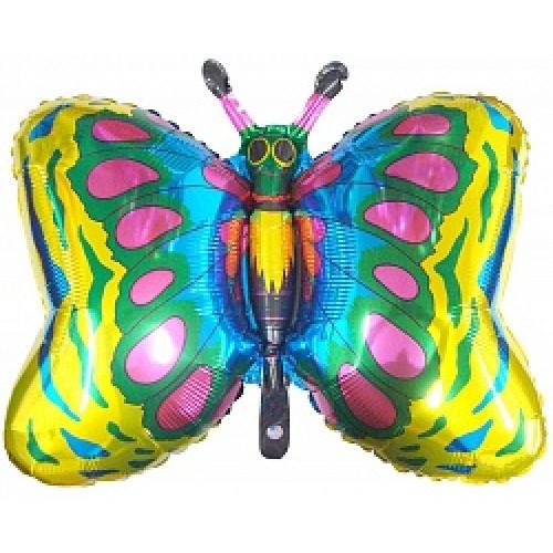 Шар (35''/89 см) Фигура, Бабочка, Золото,