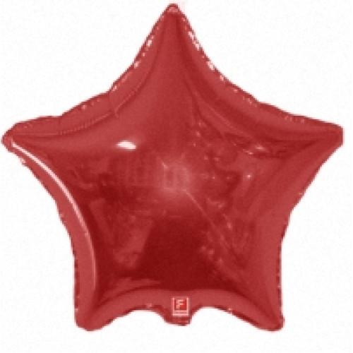 """Шар (4""""/10 см) Микро-звезда, Красный"""