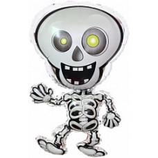 Шар (28''/71 см) Фигура, Танцующий скелет, 1 шт.