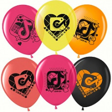 Воздушный шар (12''/30 см) Лайк Тайм, Будь в тренде, #LikeTime, Ассорти, кристалл, 2 ст, 50 шт.