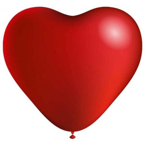 Сердце (12''/30 см) Красный, пастель, 100 шт.