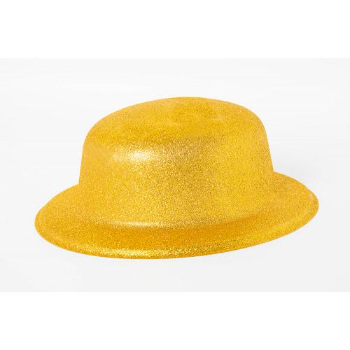 Шляпа Блестящая Золотая круглая