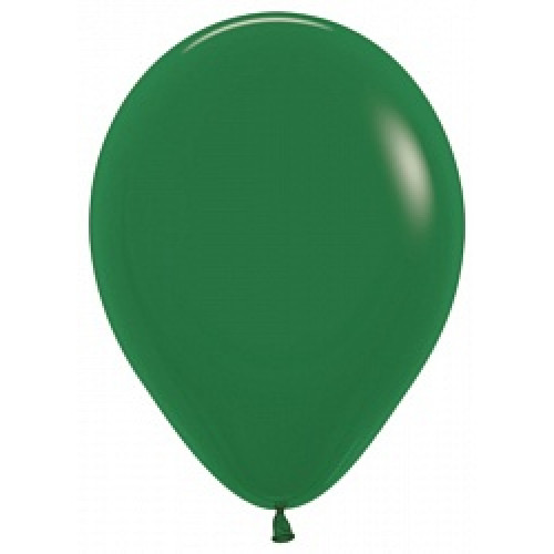 Шар (5''/13 см) Темно-зеленый (032), пастель, 100 шт.