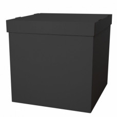 Коробка для воздушных шаров, Черная, 70*70*70 см, 1 шт.