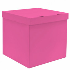 Коробка для воздушных шаров, Розовая, 70*70*70 см, 1 шт.