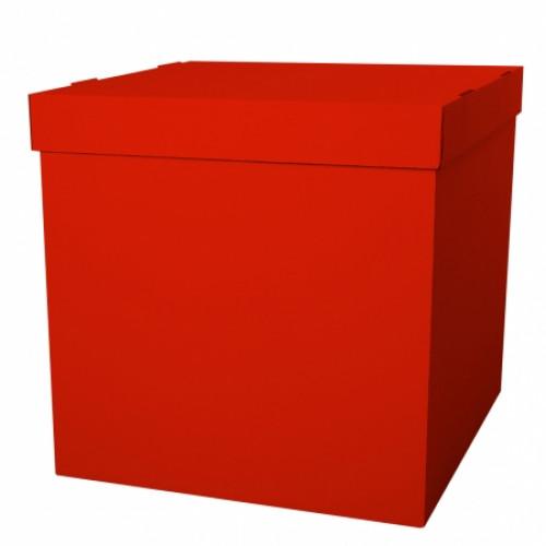 Коробка для воздушных шаров, Красная, 70*70*70 см, 1 шт.