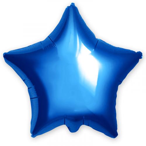 Шар (18''/46 см) Звезда, Синий, 1 шт. Agura