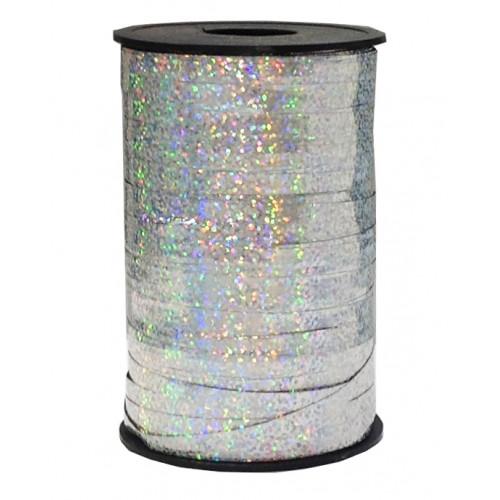 Лента голография (0,5 см x 250 м) Серебро